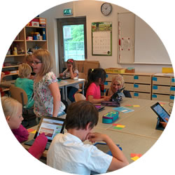 A lesson in Gothenburg using iPads