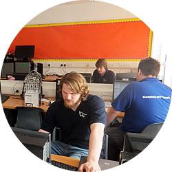 Engineers configuring School ina Box