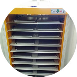 Class Set of Chromebooks within a Lapsafe Classbuddy trolley