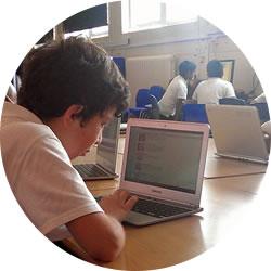 William Davis pupils using Chromebooks
