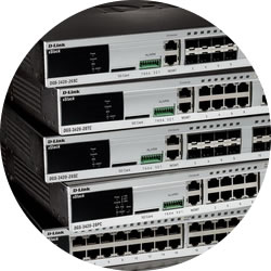 DGS-3420 Switches stacked