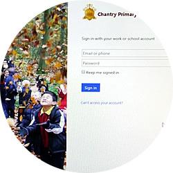 Chantry Primary School Office 365 custom login