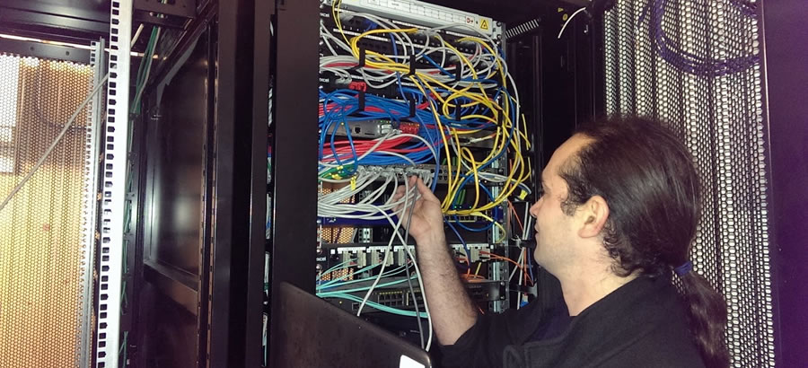 Network cabling photo