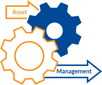 Getting ahead with asset management icon