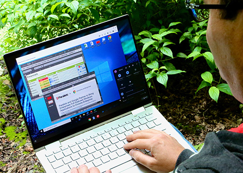 Chromebook using Parallels and Windows 10